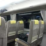 bullet train διασχίζει την Osaka