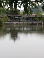 κτίσμα στη λίμνη της shrine