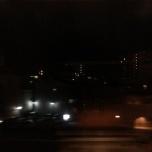 νυχτερινή Osaka μέσα από το τρένο