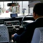ιαπωνικό ταξί (στο Τόκυο φοράνε και γάντια), προσέξτε τα καλύμματα πλεκτά με βελονάκι)
