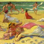 Maurice Denis - games-in-the-sand-also-known-as-beach-with-fighters
