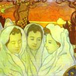 Maurice Denis - triple-portrait-of-marthe