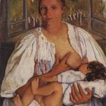 Zinaida-Serebriakova-Nurse-with-baby-